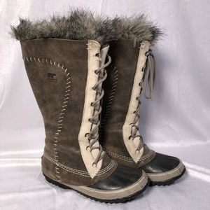 Sorel Cate the Great Winter Snow Boots Leather